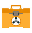 atomic yellow case icon flat style vector image