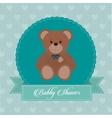 Baby Shower design teddy bear icon vector image vector image