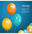 balloon infographic square vector image vector image
