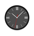 black clock icon with roman numerals vector image vector image