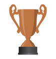 bronze cup winner third place on white background vector image vector image