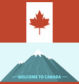 canada country flag symbol maple leaf canadian vector image vector image
