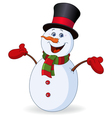 cheerful snowman vector image vector image
