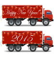 Christmas Truck vector image vector image