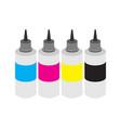 cmyk ink bottles vector image