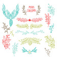 colorful winter holidays botanical template vector image vector image