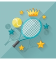 concept of tennis in flat design style vector image vector image