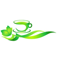 Cup of green tea vector image vector image