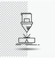cutting engineering fabrication laser steel line vector image vector image
