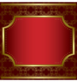 decorative card with center gold frame vector image vector image