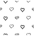doodle heart seamless doodle texture vector image vector image