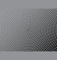 dotted metal texture halftone radial pattern vector image