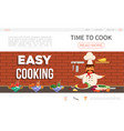 flat cooking web page template vector image