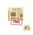 flat newspaper icon vector image