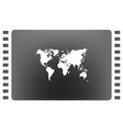 flat paper cut style icon of world map vector image vector image