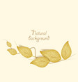 gilded greeting card leaves vector image