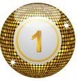 gold disco bingo ball vector image vector image