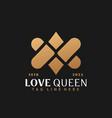 gold letter av or va love logo design abstract