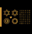 golden vintage round patterns on black vector image vector image