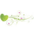 Green floral heart vector image vector image