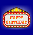 happy birthday movie theatre marquee vector image