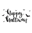 happy halloween card with lettering text vector image vector image