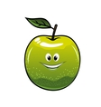 Healthy fresh green cartoon apple vector image vector image