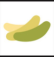 image of three cucumber icons in flat vector image