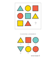 IQ test Choose answer vector image vector image