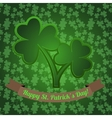 Irish shamrock with clover seamless pattern on the vector image vector image