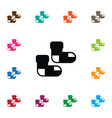 isolated half-hose icon toe element can be vector image vector image