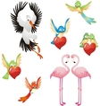 Love me - Birds collection vector image vector image