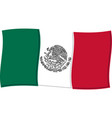 mexican flag graphic vector image