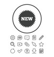new sign icon new arrival star symbol vector image vector image