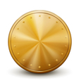 One big golden coin vector image vector image