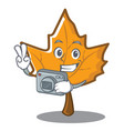 photography maple character cartoon style vector image