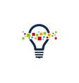 pixel idea logo icon design vector image