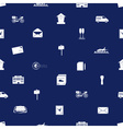post and mail seamless blue and white pattern vector image