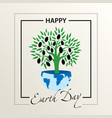 postcard congratulations on the earth day the vector image