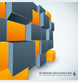 poster design with orange and grey cubes vector image