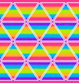 rainbow triangle seamless pattern with grunge vector image vector image
