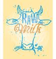 Raw Milk vector image vector image
