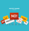 realistic 3d detailed protest concept banner card vector image vector image