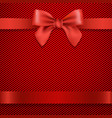 red background with bow vector image