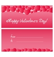 Red hearts card Valentines Day Mothers Day vector image vector image