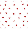 red mini heart seamless pattern vector image vector image