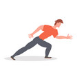 run running man side view vector image
