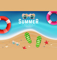 sand and sea water top view scene for summer vector image vector image