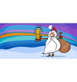 santa claus cartoon greeting card vector image vector image