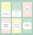 save date cards vector image vector image